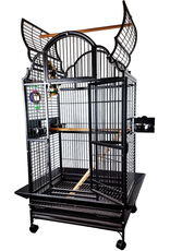 "A&E Black 32""x23"" Opening Victorian Top Cage"