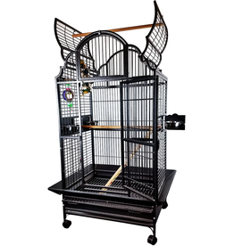 """A&E Black 32""""x23"""" Opening Victorian Top Cage"""