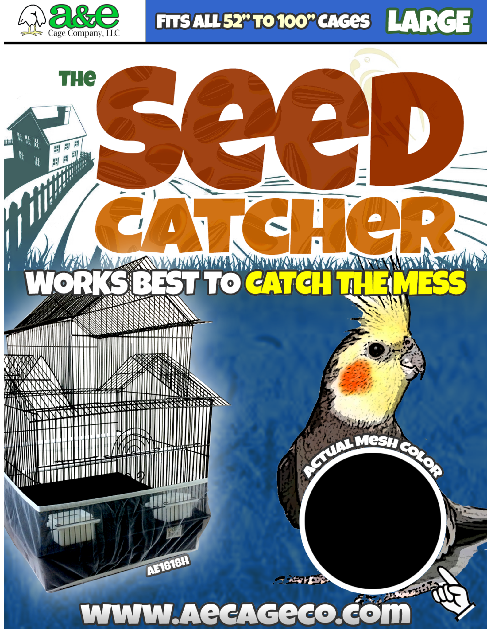 """Large Seed Catcher 52"""" to 100"""" (13"""" high)"""