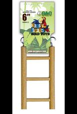 "A & E CAGE CO. Small Bird Wooden Hanging Ladder - 6"" length - 3 rung"