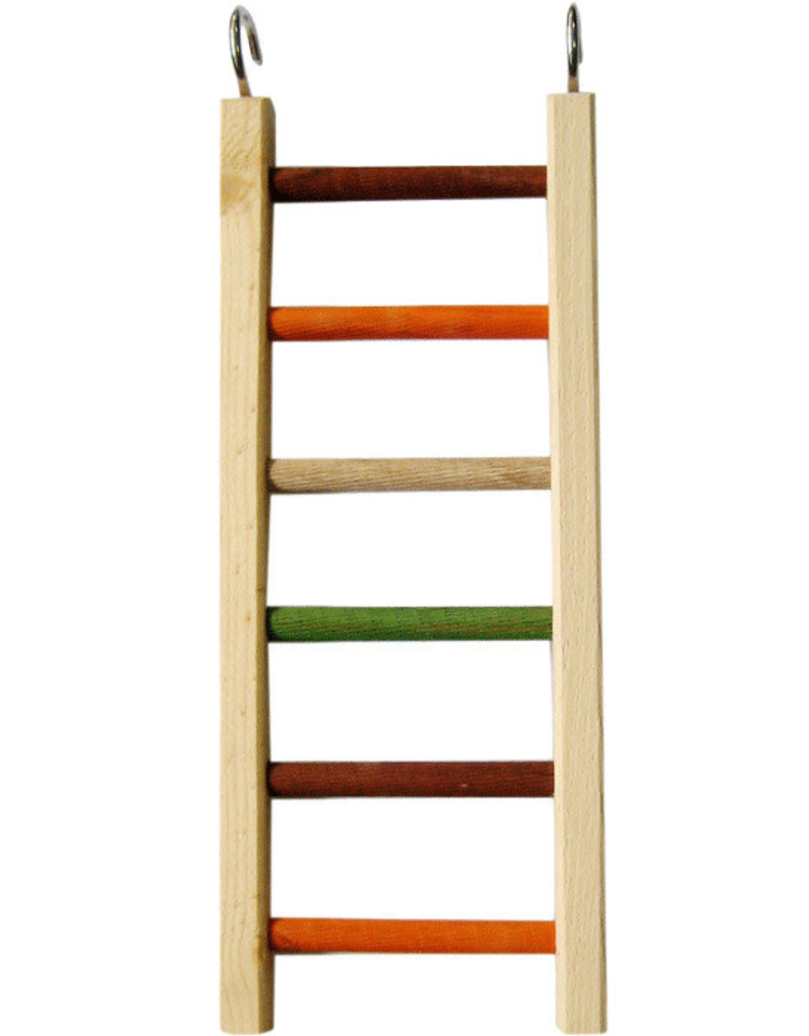 """A & E CAGE CO. Wooden Hanging Ladder, 14"""" x 5.25"""" - 1/2"""" Diameter"""