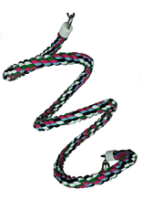 A & E CAGE CO. Medium Rainbow Cotton Rope Boing with Bell
