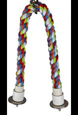 """A & E CAGE CO. Cotton Cable Perch 22"""" x 0.75"""