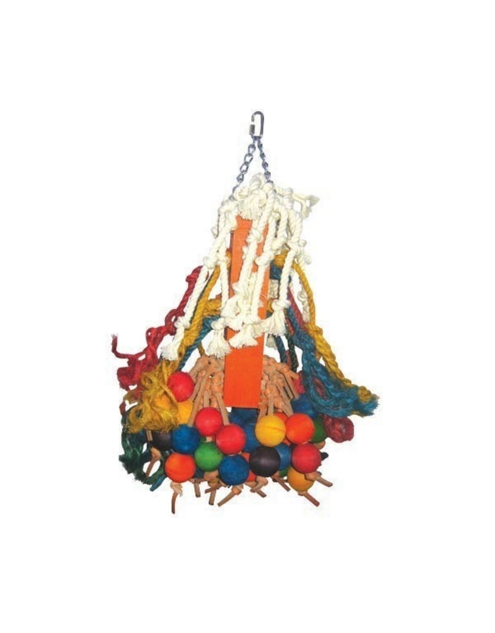 A & E CAGE CO. Giant Cluster of Hanging Wood Bells