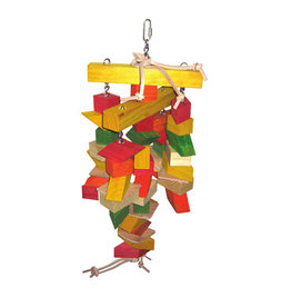 A & E CAGE CO. Parallelogram Large Wooden Bird Toy