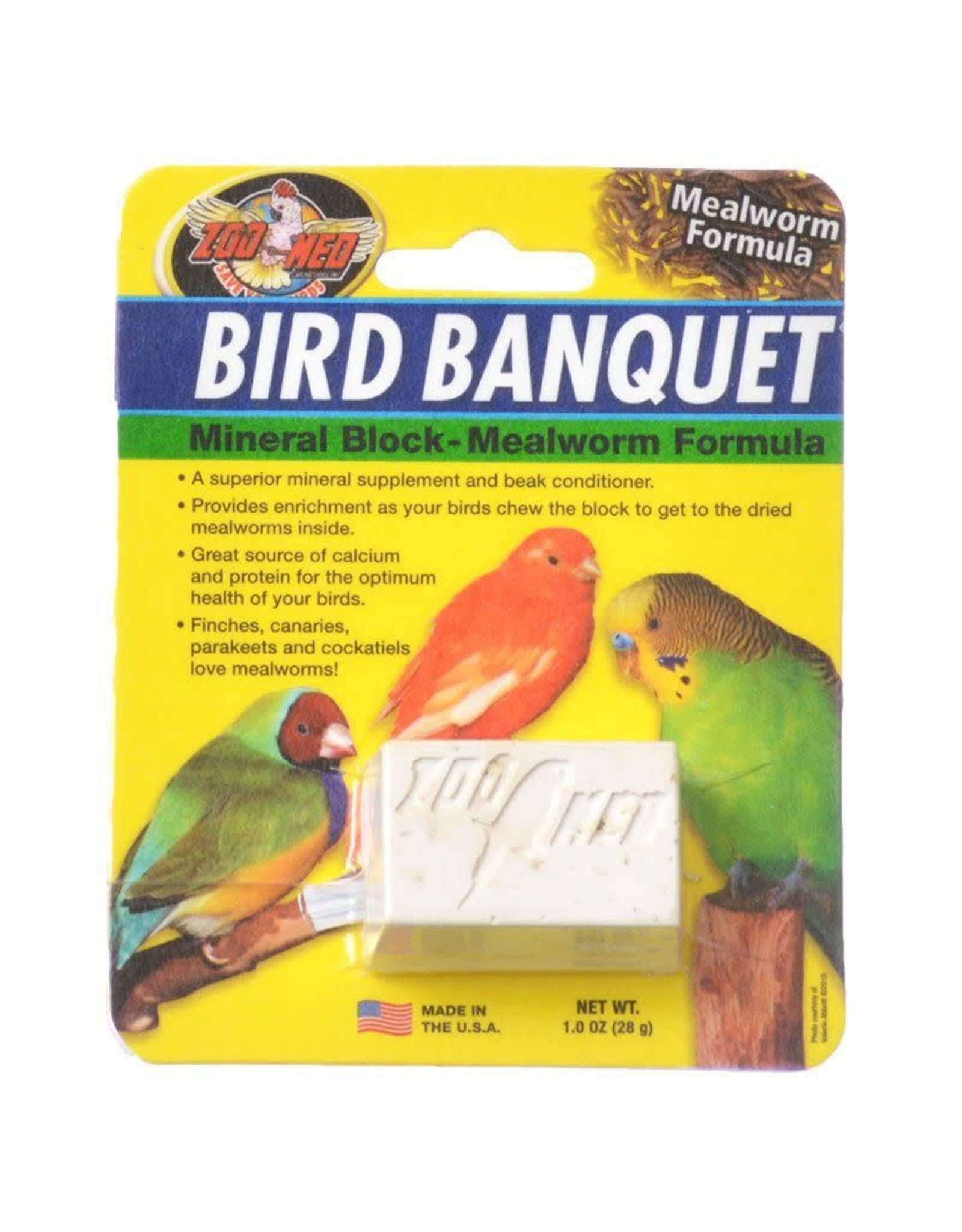 ZOO MED LABORATORIES, INC. ZOO BIRD BANQ SM MEALWRM BLC