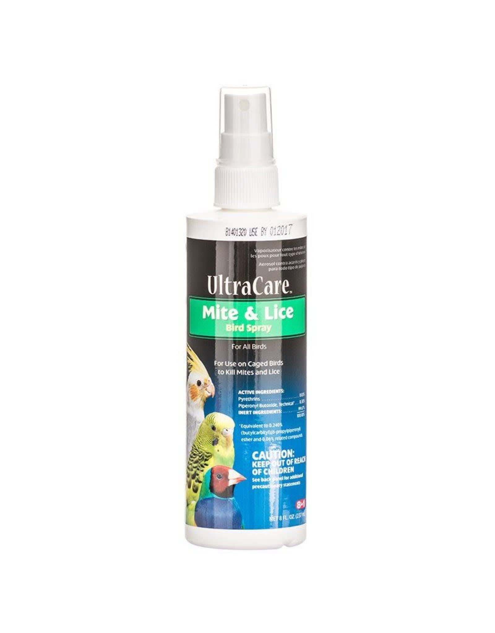 UPG- CA (EIGHT IN ON 8N1 Mite Lice Spray Bird 8oz