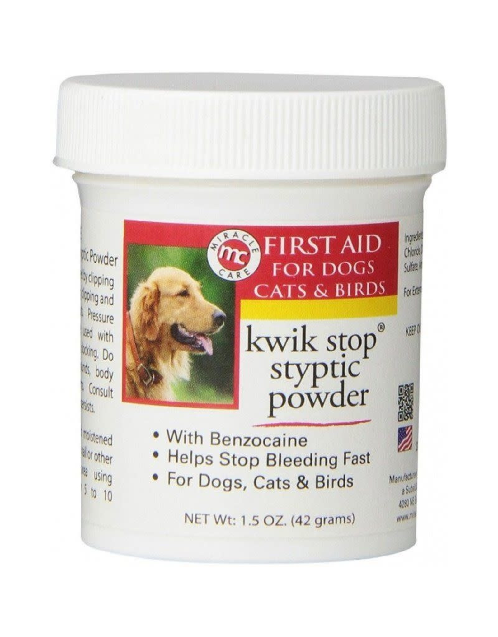 MIRACLECORP PRODUCTS KWIK STOP STYPTIC PWDR 1.5Z