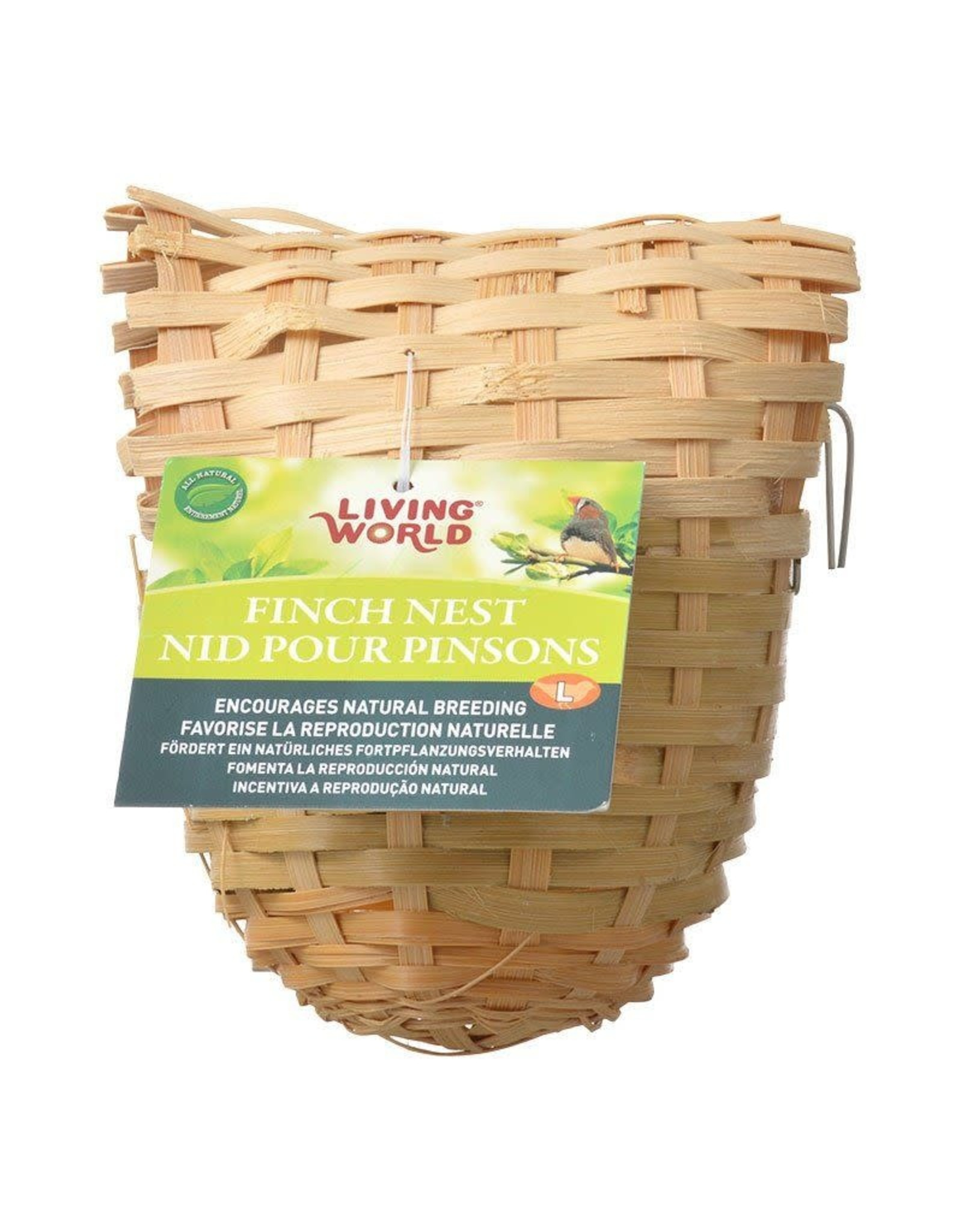 Living World Bamboo Finch Nest, Large