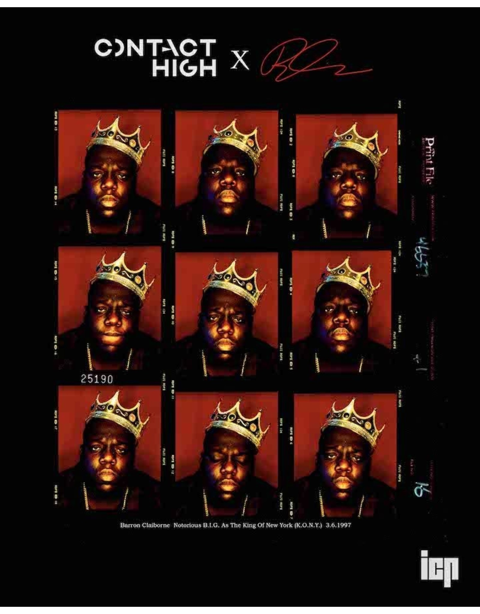 Notorious B.I.G., the King of New York, Contact Sheet Print