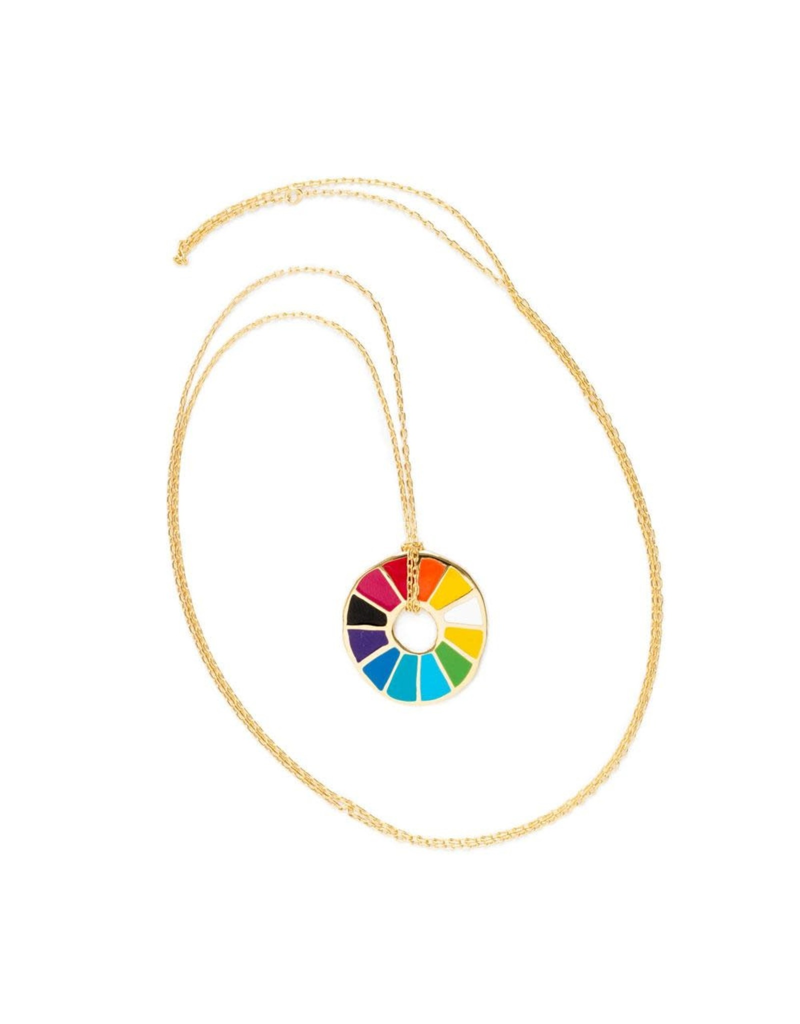 Color Wheel Pendant Necklace