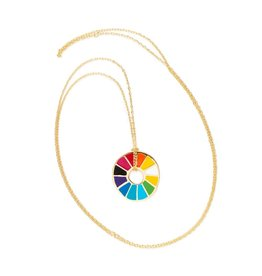 Color Wheel Pendant Necklace