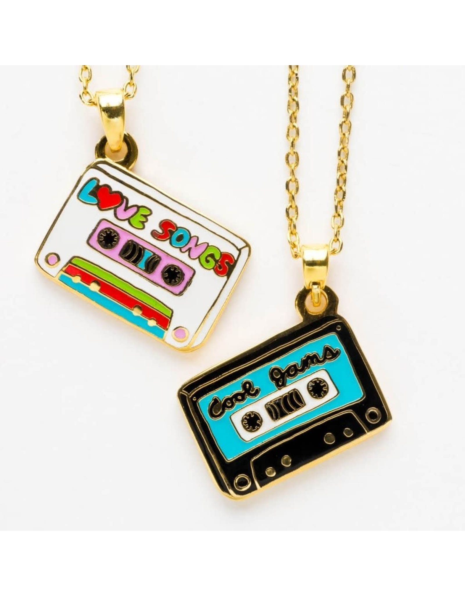 Cool Jams and Love Songs Double-Sided Pendant Necklace