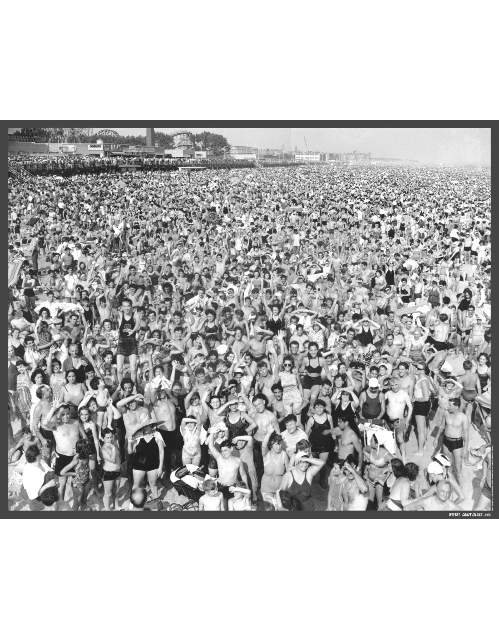 Weegee, Coney Island, 1938 Poster
