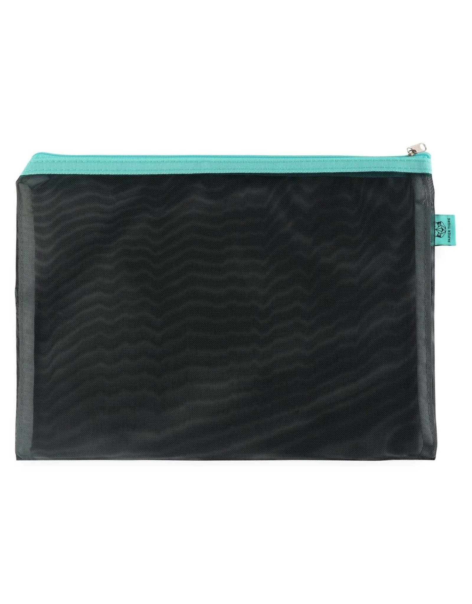 Papier Tigre Black & Aqua Large Pouch