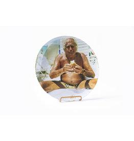 Grandpa on the Beach Dinner Plate - Gillian Laub