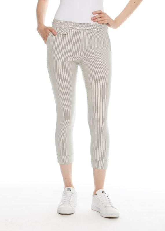 I Love Tyler Madison ILTM 25 inch Stripe Cuff Faux Trouser