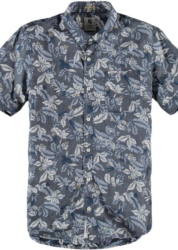 Garcia Blue floral short sleeve dress shirt
