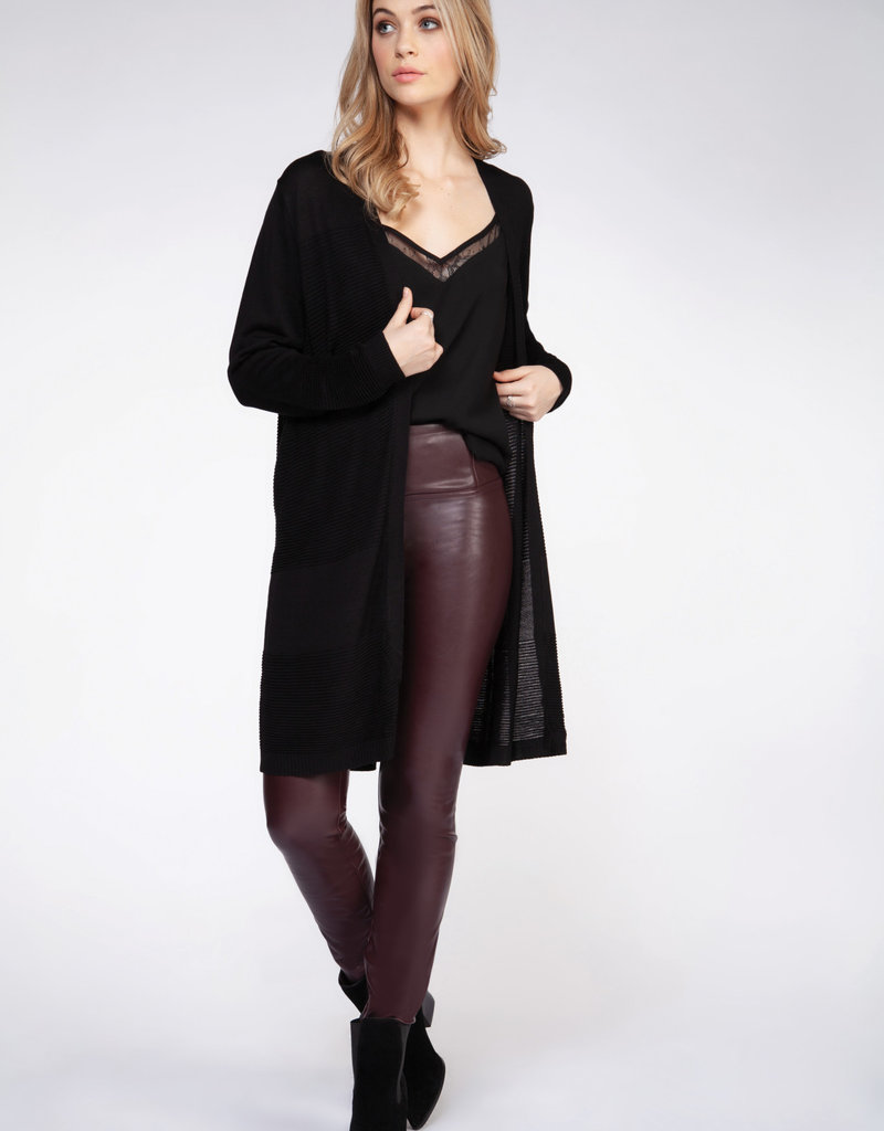Dex Long Sleeve Ribbed Cardigan Sweater