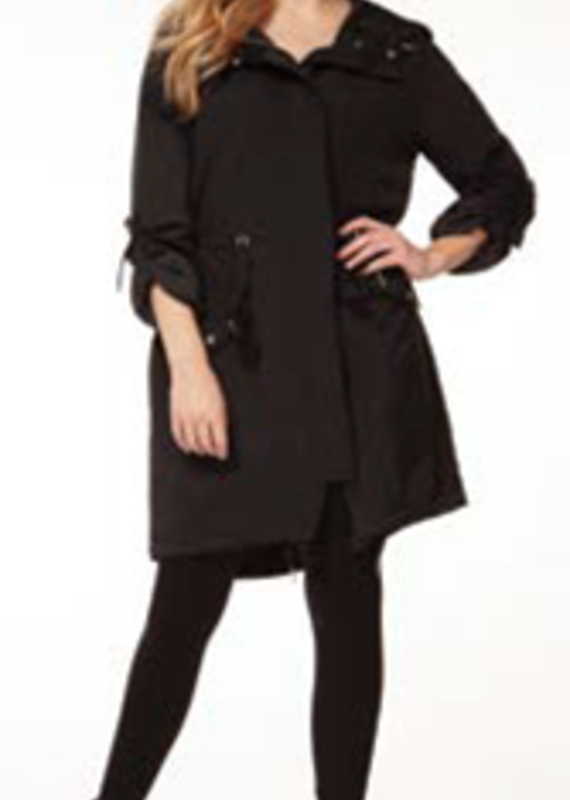 Dex Black Long Jacket