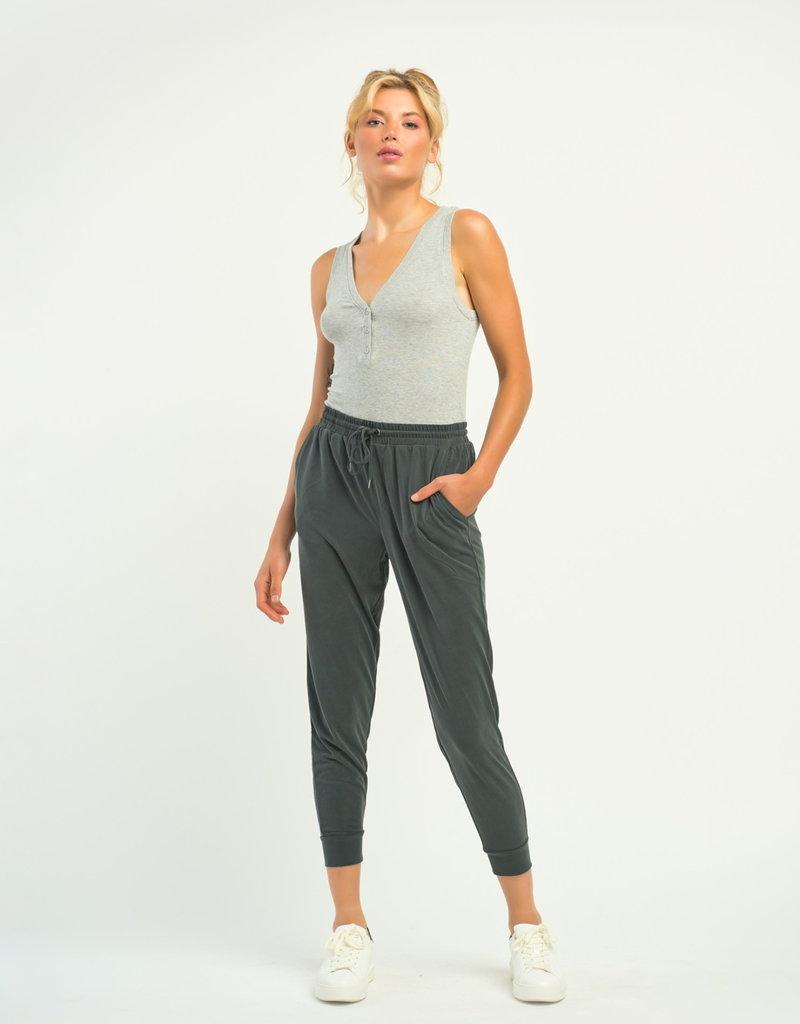 Dex Henley Ribbed Bodysuit