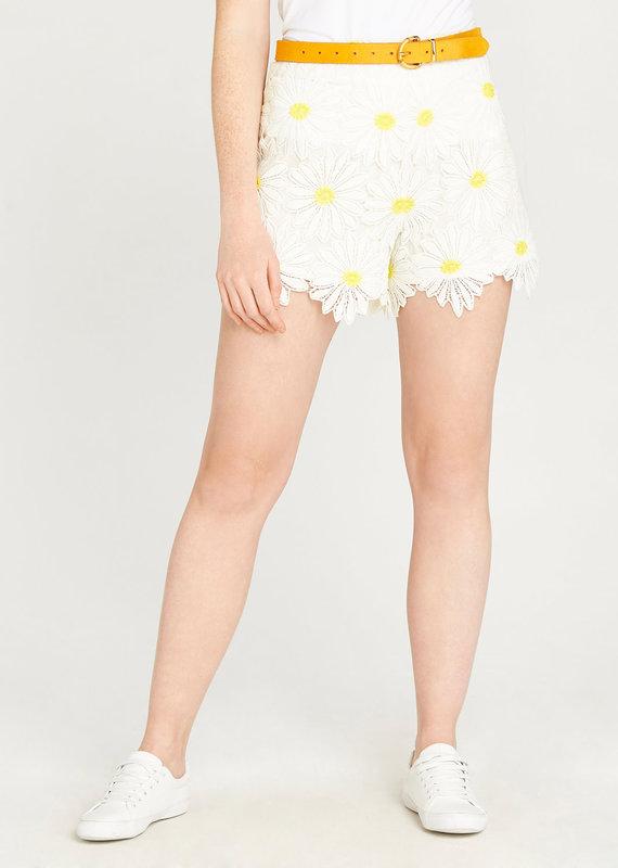 Apricot Daisy Lace Shorts