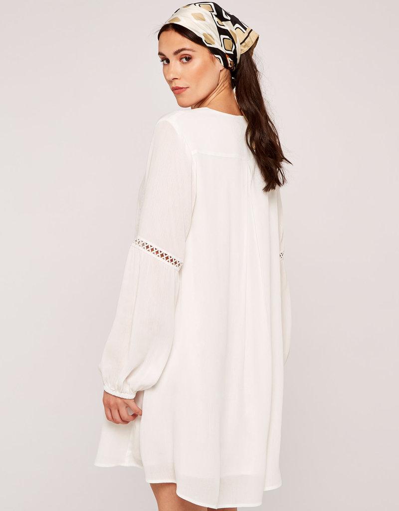Apricot Lace Detail Boho Swing Dress