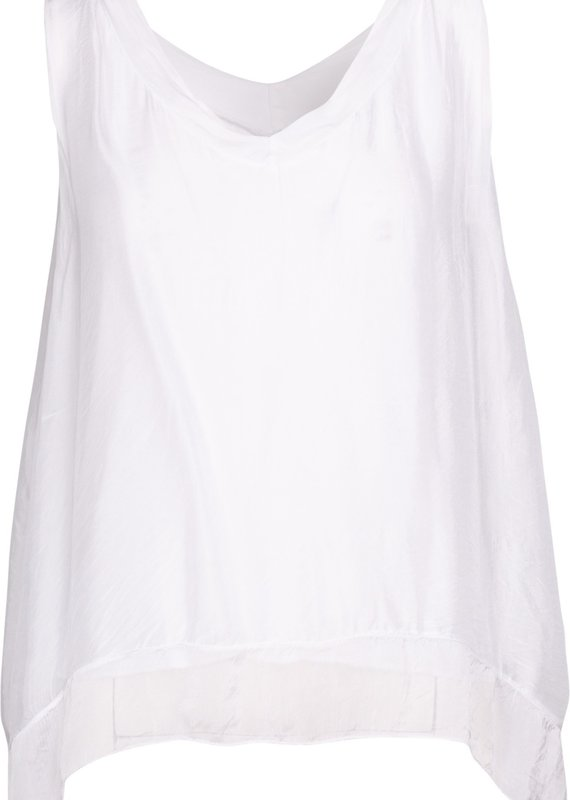 """""""M"""" Made in Italy Sleeveless Top"""