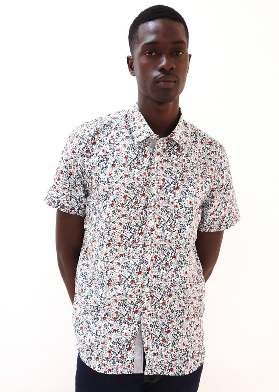 Point Zero Dry edition short sleeve shirt with grey red pattern