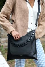 Pixie Mood Millie Shoulder Bag - Black / Nubuck
