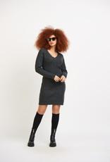 Dex Weaved Stitch V Neck Dress