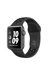 APPLE APPLE WATCH NIKE SERIES 3 GPS, 38MM SPACE GRAY ALUMINUM CASE W/ ANTHRACITE/BLACK NIKE SPORT BAND