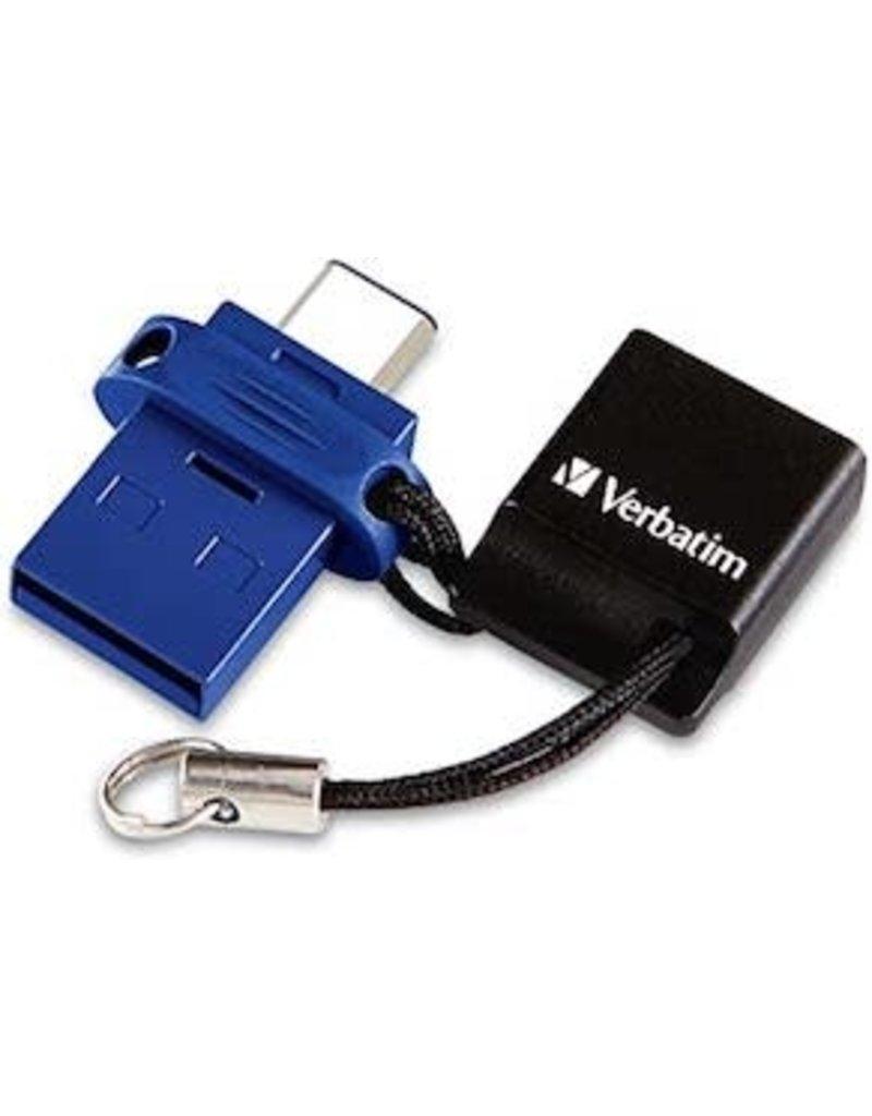 VERBATIM VERBATIM DUAL USB/USBC STORE'N'GO FLASH DRIVE 64GB