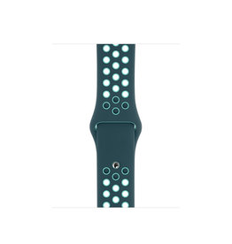 APPLE APPLE WATCH BAND 40MM MIDNIGHT TURQUOISE/AURORA GREEN NIKE SPORT BAND - REGULAR