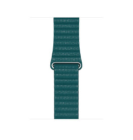 APPLE APPLE WATCH BAND 44MM PEACOCK LEATHER LOOP - MEDIUM