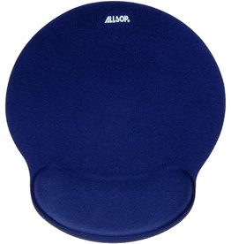ALLSOP ALLSOP MEMORY FOAM MOUSE PAD WITH WRIST REST BLUE