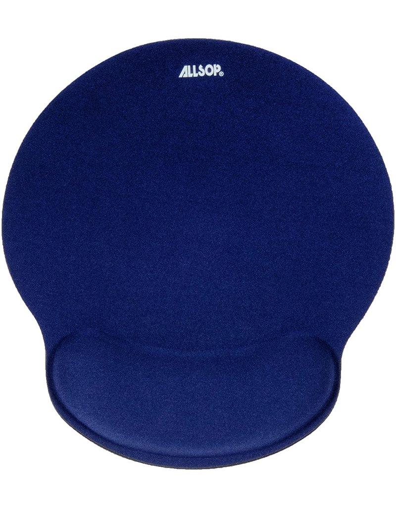 ALLSOP ALLSOP MEMORY FOAM MOUSE PAD WITH WRIST REST BLUE
