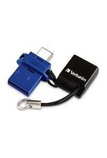 VERBATIM VERBATIM DUAL USBC/USB STORE'N'GO FLASH DRIVE 16GB