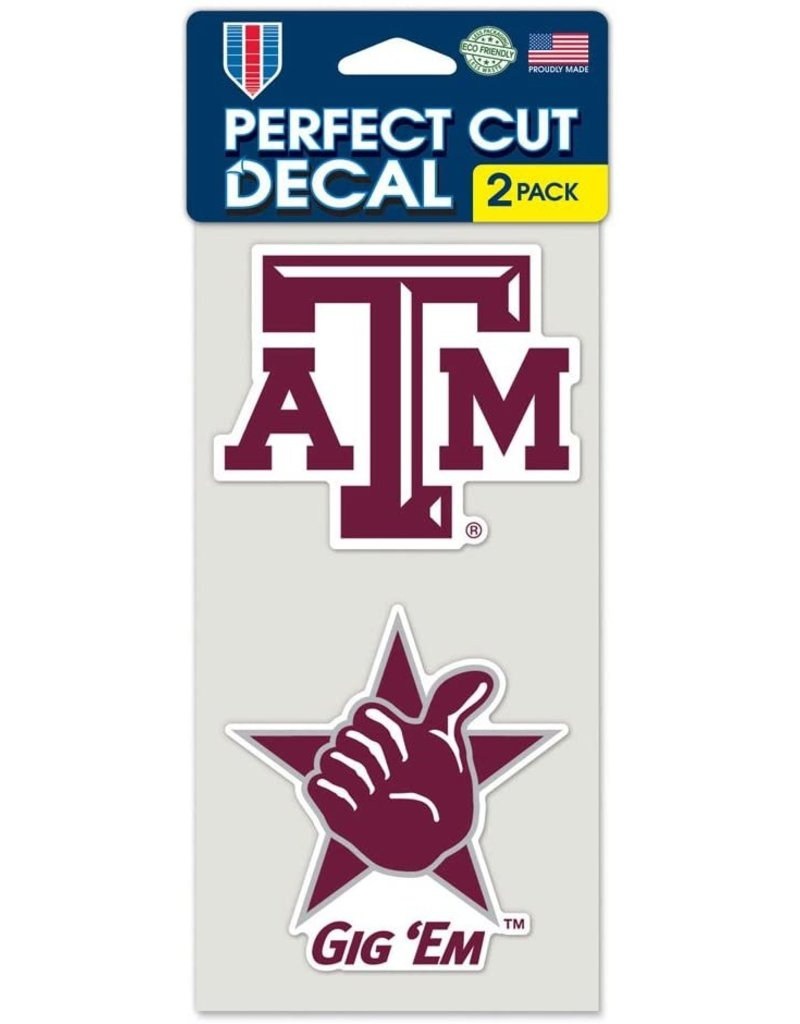 WINCRAFT WINCRAFT SET OF TWO 4X4 DECALS - TEXAS A&M UNIVERSITY LOGO & GIG EM