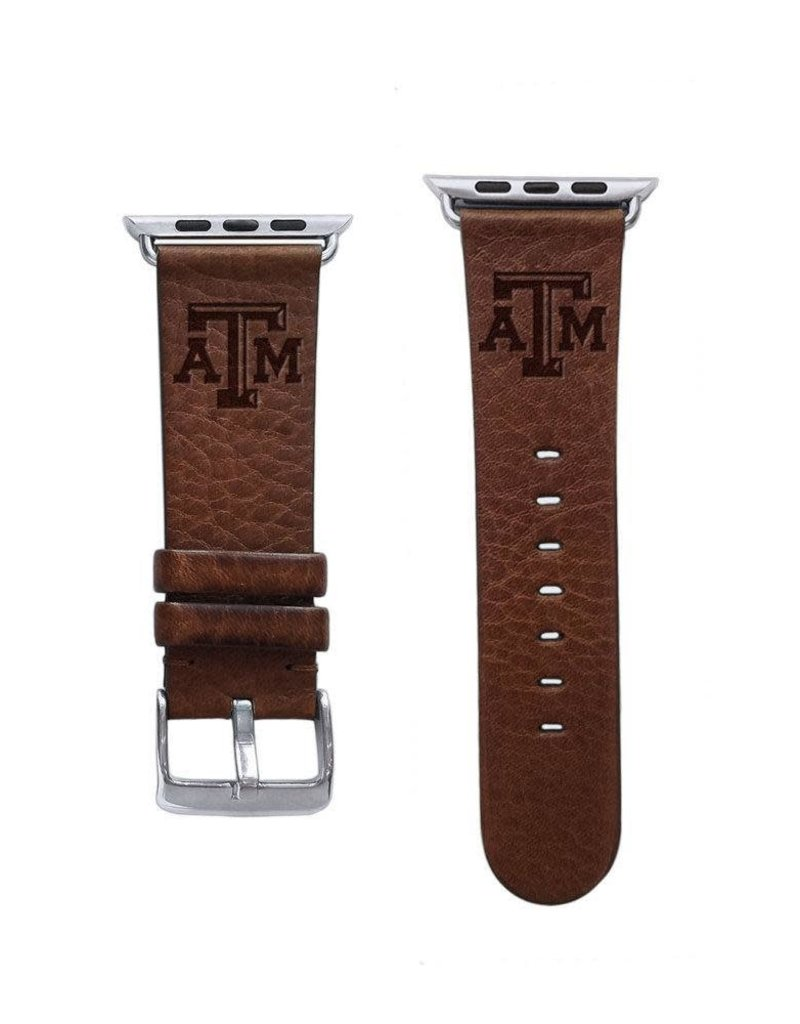 AFFINITY BANDS AFFINITY BANDS 3MM LEATHER ATM APPLE WATCH BAND - TAN L