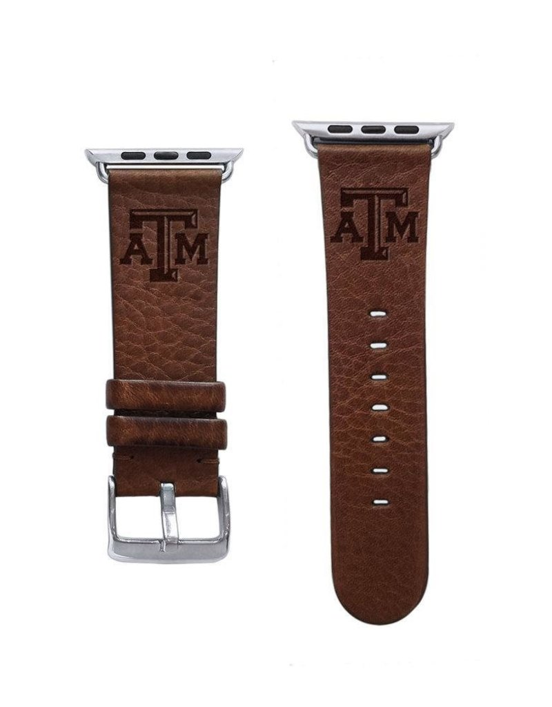 AFFINITY BANDS AFFINITY BANDS 42/44MM LEATHER ATM APPLE WATCH BAND - BROWN