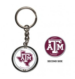 WINCRAFT WINCRAFT SPINNER KEY RING - TEXAS A&M UNIVERSITY