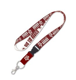 WINCRAFT TEXAS A&M UNIVERSITY LANYARD W/DETACHABLE BUCKLE  1""