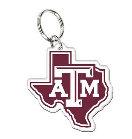 WINCRAFT WINCRAFT PREMIUM ACRYLIC KEY RING - TEXAS A&M UNIVERSITY STATE LOGO