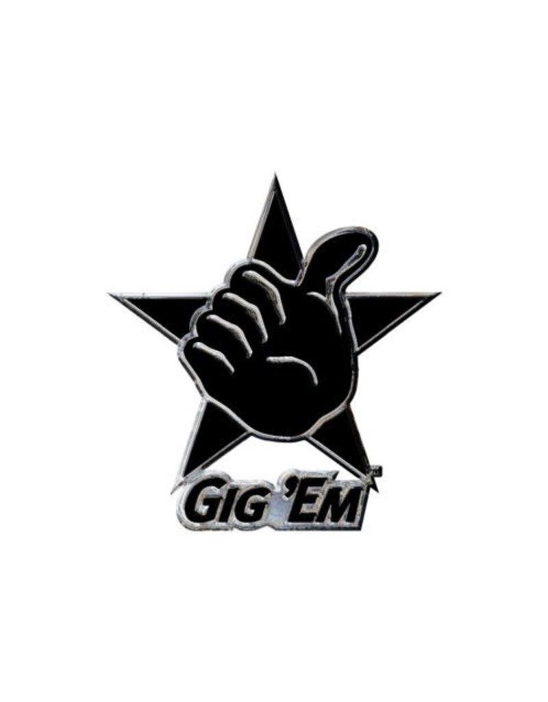 WINCRAFT WINCRAFT CHROME FREE FORM AUTO EMBLEM - TEXAS A&M UNIVERSITY GIG'EM