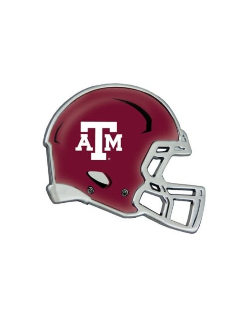 WINCRAFT WINCRAFT CHROME METAL DOMED EMBLEM - TEXAS A&M UNIVERSITY HELMET