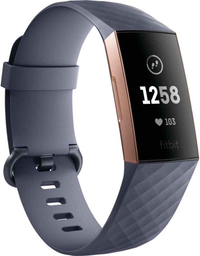 FITBIT FITBIT CHARGE 3 ROSE GOLD/BLUE GREY