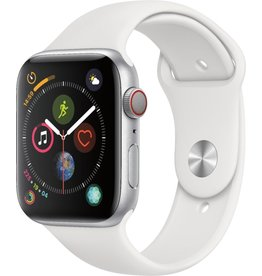 APPLE APPLE WATCH SERIES 4 GPS + CELLULAR 44MM ALUM SILVER CASE WHITE BAND