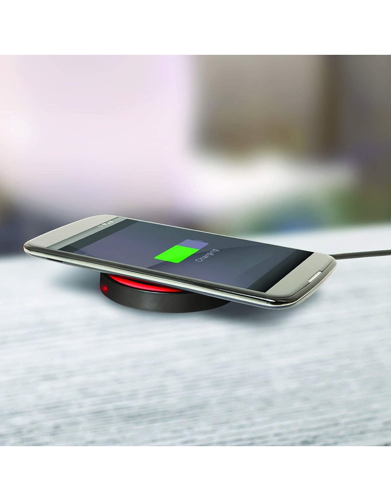 EMERGE EMERGE HELIX BLACK WIRELESS CHARGER WITH 5FT MICRO USB CABLE