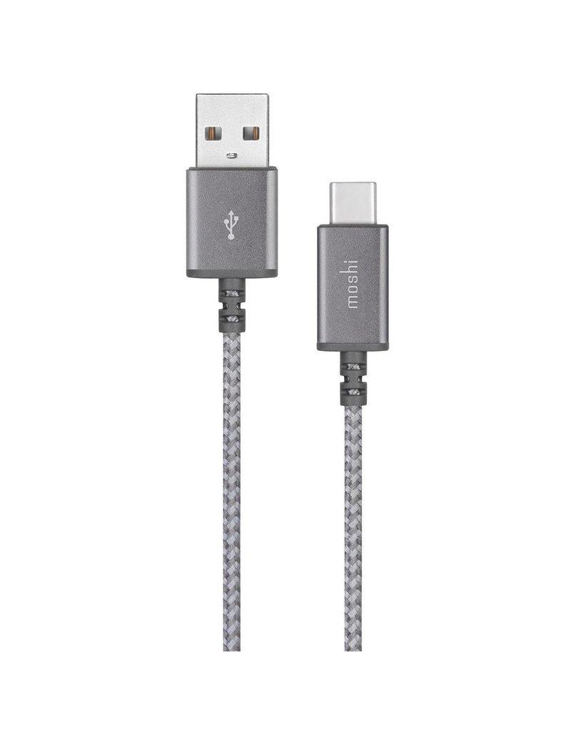 MOSHI MOSHI INTEGRA SYNC AND CHARGE CABLE - .8FT USB TO USB-C GRAY